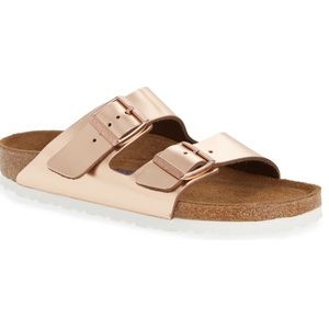 Metallic Copper Birkenstock
